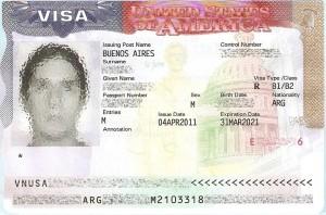 Un Visa apposé sur un passeport. (Photo DR)