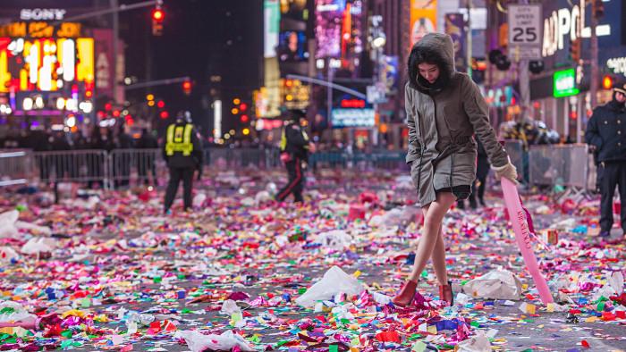 Times Square après la fête... (Photo Anthony Quintano)