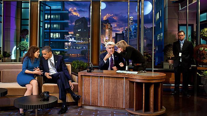 Le plateau du Tonight Show. (Photo NBC)