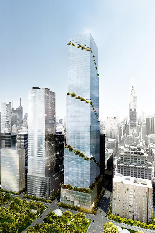 The Spiral face à l'Empire State building. (Photo BIG)