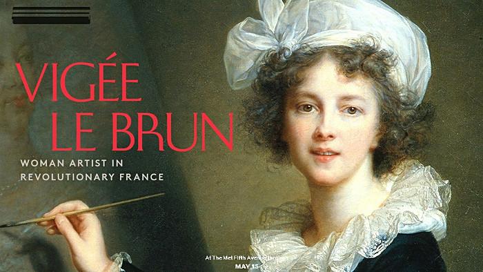 L'affiche de l'exposition consacrée à Elisabeth Vigée Le Brun.
