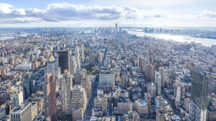Vue sur la pointe Sud de Manhattan.