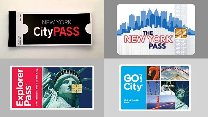 Les 4 pass qui existent à New York. (Photo Didier Forray)