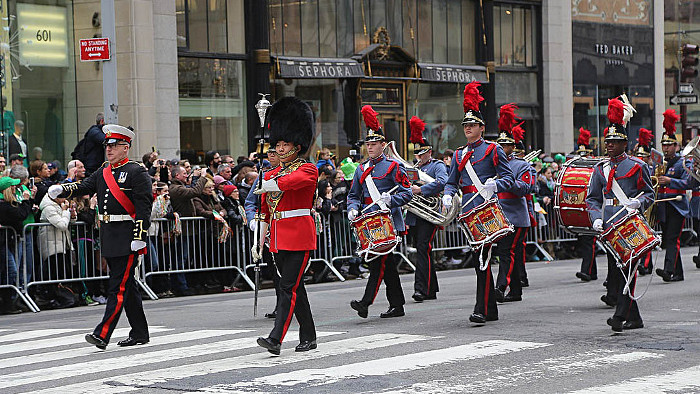 La traditionnelle parade de la Saint-Patrick à New York. (Photo Richie)
