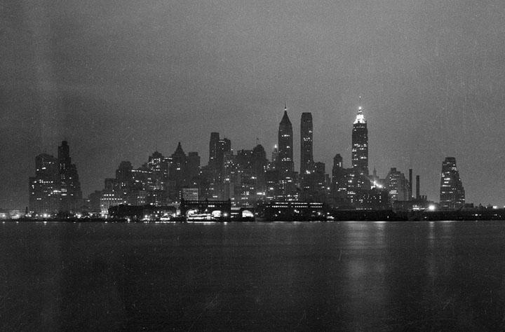 La skyline en février 1938.