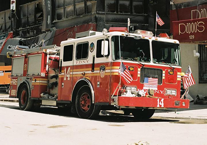 Les camions de pompiers aujourd'hui.