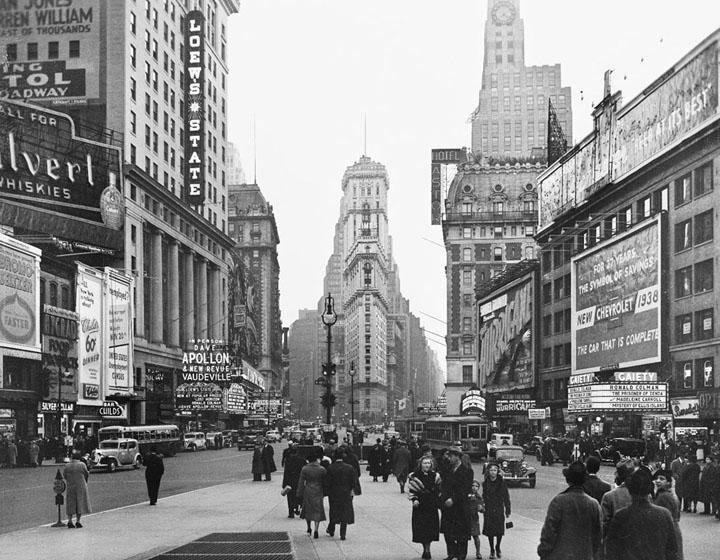 Times Square en janvier 1938.