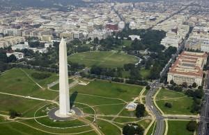 Washington vue d'avion