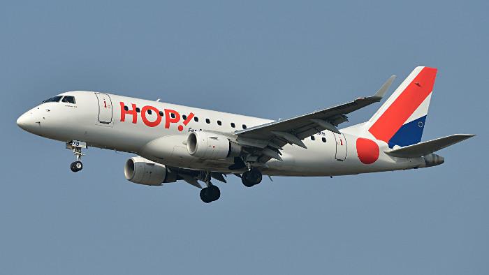 Un Embraer de la compagnie Hop! Air France. (Photo P. Dourlot)