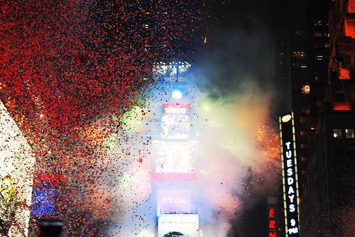 Confetti Times Square New York
