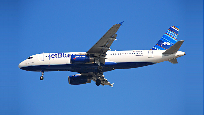 Un appareil aux couleurs de Jet Blue. (Photo DR)