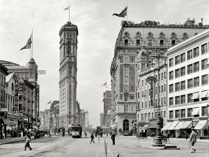 Le New York Times building en 1908.