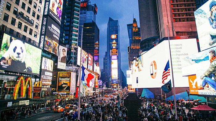 Les néons de Times Square ne s'arrêtent jamais !