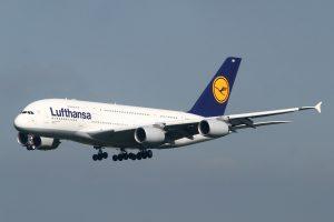 Un Airbus 380 de Lufthansa.