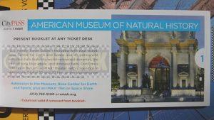 Le coupon pour le musée d'Histoire naturelle.