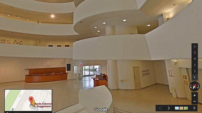 Le Guggenheim Museum comme si vous y étiez ! (Photo Google)