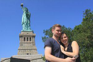 selfie statue liberté new york