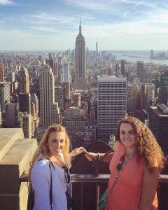 top of the rock selfie new york