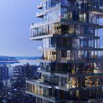 Un building de New York en forme de jeu Jenga