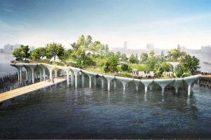Un nouveau parc en construction sur l'Hudson River