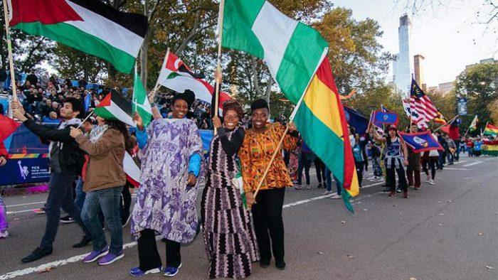 La parade des Nations : un cortège bariolé ! (Photo DR)