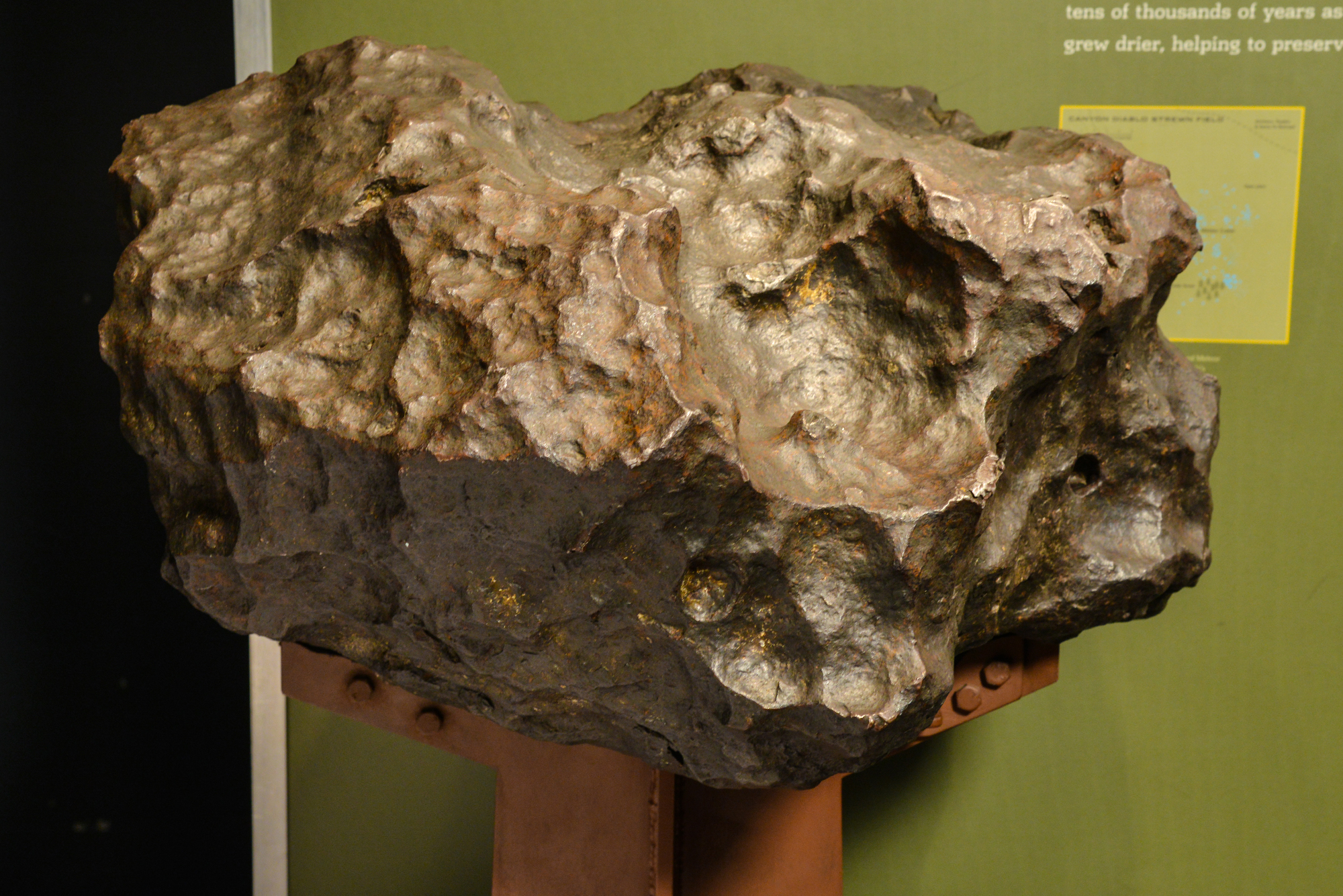 météorite au musée d'Histoire naturelle de New York