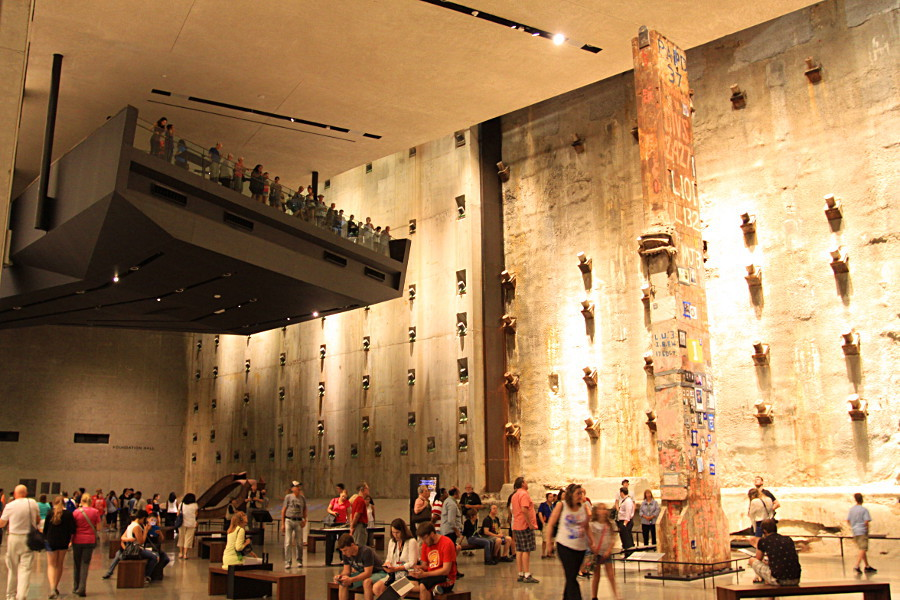 Les fondations des tours jumelles du World Trade Center au musée national du 11 septembre