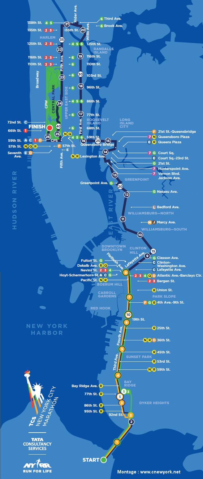 parcours marathon New York