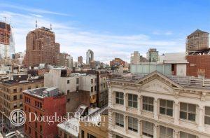 La vue sur Manhattan depuis le loft