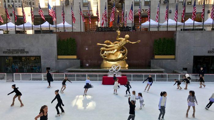 La patinoire du Rockefeller Center