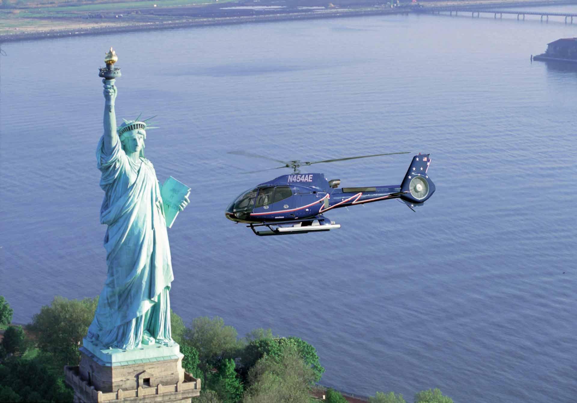 survol hélicoptère new york