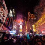 Où ont lieu les feux d'artifices du 31 décembre à New York ?