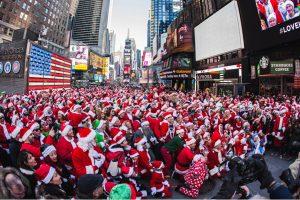 Les pères Noël se rassemblent à New York