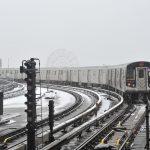 Les premiers flocons de neige à New York