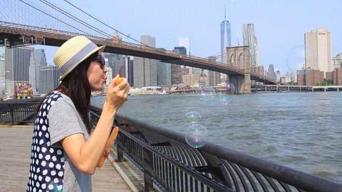 bulles face à New York