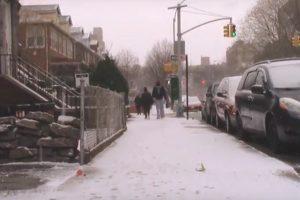 La neige est de retour à New York !