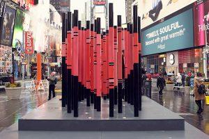 Times Square dévoile son cœur de la Saint-Valentin