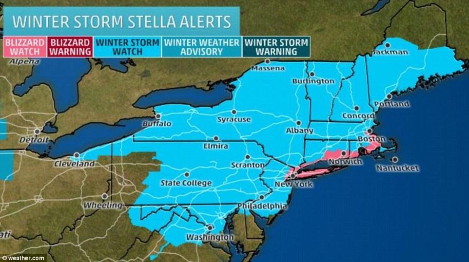 Violente tempête de neige dans le nord-est — Etats-Unis