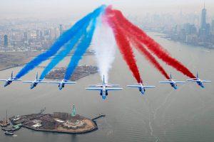 La patrouille de France dans le ciel de New York