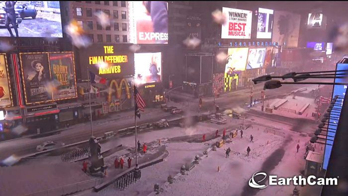 times square neige