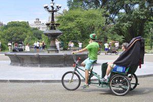 Découvrez Central Park en vélotaxi !