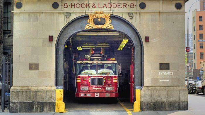 pompiers visite new york