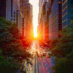 Qu'est-ce que le Manhattanhenge à New York ?