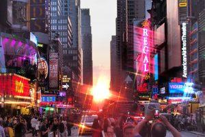 New York assiste au dernier Manhattanhenge de 2017