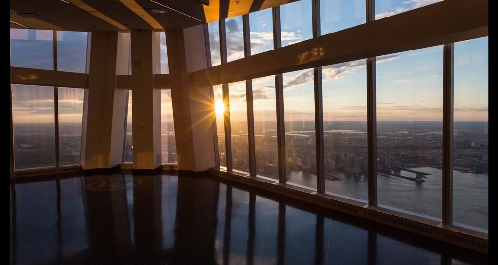 one world observatory coucher soleil