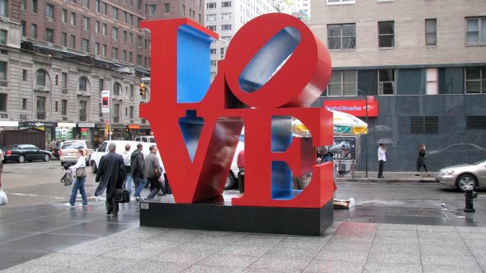 sculpture love New York