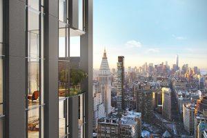Une nouvelle tour filiforme monte dans le ciel de New York