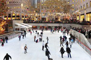 Élancez-vous sur la patinoire du Rockefeller Center à New York