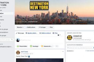 Rejoignez-nous sur le groupe Destination New York !