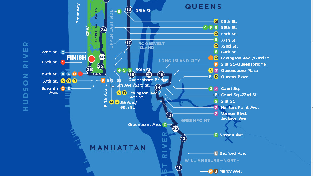 Le Parcours Du Marathon De New York 2017 C New York